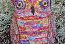 Rughooking Owls