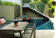 Outdoor Rooms, Porches, Paths, Gardens, Pools, Plants / by t