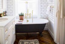 el baño. / stylish, tranquil bathrooms