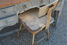 refurbish. / refurbishing + repurposing furniture
