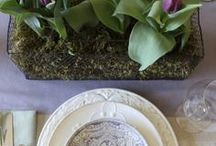 Easter & Spring Tablescapes / Beautiful table setting ideas for Easter and Spring