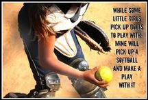 Run hard. Turn left. / Fastpitch, softball  / by Monica Lewis