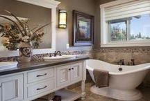 Bathroom Ideas / Ideas for the bathroom, master bathroom, guest bathroom, tile, faucets, clawfoot tubs, fixtures, and bathroom color ideas.
