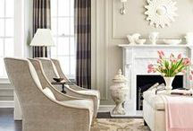 Family Room Ideas / family room, living room, furniture arrangement, inspiration, sofa, sectional, coffee tables, end table, and rugs!