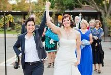 What to Wear to Your Queer Wedding (Lesbian Weddings, Gay Weddings) / This board is all about inspiration and information to help you find the perfect queer wedding outfit.  We feature all sorts of gay and lesbian wedding info. / by Andrea Cip