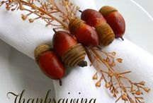 Thanksgiving: tablescapes, decorating tips and more / Thanksgiving table settings and traditions / by Leslee Walser