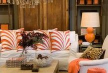 Orange and More in Home Decor / by Leslee Walser