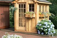 Garden Sheds, Benches and More, Oh My! / Garden sheds, potting benches and other outdoor storage with a decorative twist.