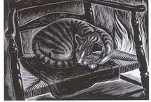 CATS in ART: Drawing . Etching . Printmaking . WoodCut . LinoCut . Lithograph / חתולים באמנות: . אמנות: רישום . תחריט . הדפס . חיתוך עץ . חיתוך לינולאום . ליטוגרפיה https://www.facebook.com/Cat.national.animal.of.Israel / by Ayelet Chen אילת חן