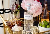 Spirits! (Bar Cart Ideas) / How to style a classy bar cart /// Never too early for happy hour