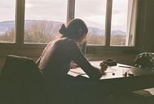 A Writer's Life: Silence, Solitude & Sometimes A Cafe... / by Maitri Libellule