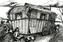 Vardo / Travellers and their vardos. / by Jennifer Stafford
