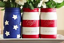 Patriotic Awesomeness / Celebrating the red, white and blue. Oh Say can you see? Crafts and recipes to celebrate patriotic holidays such as Fourth of July.