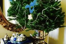 Christmas / Lots of blue & white!