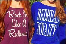 Redhead Apparel / Get your redhead apparel today! Enter our RED SHOP to see our entire collection of redhead tanks, t-shirts and sweatshirts, and hair accessories: http://howtobearedhead.com/shop