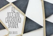 Chalkboard Crafts / Home decor using chalkboards or other creative ways to use DIY Chalkboards.