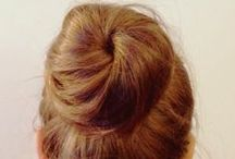 Bodacious Buns / Looking for a redhead hairstyle? A great look is a sock bun! Use our redhead bun makers, redhead hair ties, and redhead bobby pins to create your signature 'bodacious bun' look! #RedheadHairstyles #Redhead #Hairstyles