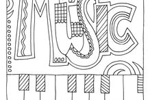 Piano Lessons: Coloring Pages