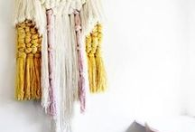 NURSERY IDEAS - MACRAME TREND / Woven wallhanging trend and interiors that feature them.
