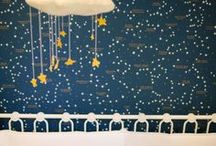 NURSERY IDEAS - STARS AND CONSTELLATIONS / Inspiration and ideas for creating a childrens room featuring the current trend for stars and constellations. Find beautiful room inspiration and products for children.