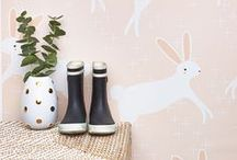 NURSERY IDEAS - RABBITS + BUNNIES / Nurseries , Spaces  and Products featuring little bunnies.