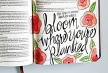 Illustrated Faith / Illustrated Faith - worshipping God through art and bible journaling.  Plenty of bible journaling ideas and drawings.