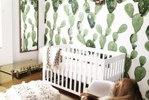 NURSERY IDEAS - BOHO NURSERY / Want create a gorgeous boho style nursery for your baby girl or boy? Loads of ideas bringing macrame, rattan, cactus motifs and tribal touches together to give you so many ideas for the perfect kids room.