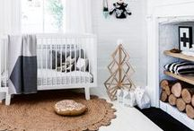 NURSERY IDEAS - BLACK AND WHITE / Get a modern scandinavian style with black and white monochrome nursery style.. lots of ideas to create the perfect boy or girls nursery.