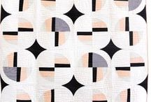 MODERN PATCHWORK IDEAS / Beautiful patchwork quilts that are simple and modern  in style