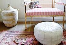 BOHO INTERIORS - TRIBAL RUG TREND / Inspiration for adding colour and pattern with tribal rugs in any room of the house whether its bedroom, nursery or lounge room.