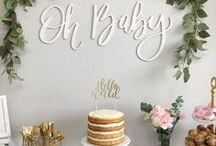 BABY SHOWER IDEAS / Create a special party for the mum to be. Loads of baby shower inspiration from food to cakes and decorating plus styling the event.