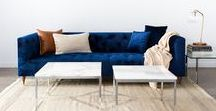 Meet the Ms. Chesterfield Sofa / How do you reinvent the classic Chesterfield sofa for the modern age? We partnered with Maxwell Ryan, founder of Apartment Therapy, to give the traditionally masculine sofa a more feminine edge. The signature tufted upholstery remains, while a lighter silhouette, softer upholstery fabric, and casual throw pillows give it new life.