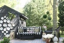Patio Design Possibilities / I dream of pretty patios.  Inspiring DIY pation design ideas.