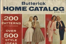 My Vintage Butterick Sewing Pattern Catalogs / by Valerie Seaholm