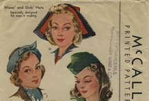 My Vintage Hat Sewing Patterns / From my personal collection ~ Vintage Sewing Patterns for Hats / by Valerie Seaholm