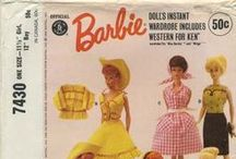 My Vintage Barbie™ Doll Clothes Sewing Patterns / From my personal collection ~ Vintage Sewing Patterns for Barbie™ Doll Clothes / by Valerie Seaholm