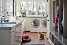 Lovely Laundry Room Decor / Laundry Rooms are hard working spaces.  I love DIY home decor ideas to make this functional space pretty.