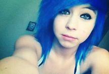 Color Me Pretty(: Hair / Scene dyed hair colorful girl  / by 🎀Saman†ha🎀