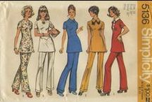 My Vintage Hillary Style Sewing Patterns / From my personal collection ~ Vintage Sewing Patterns for Pantsuits or, more correctly, the Tunic and Pants. A tribute to Hillary Clinton.  / by Valerie Seaholm