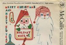 My Vintage Christmas Sewing Patterns / From my personal collection ~ Vintage Sewing Patterns for Christmas / by Valerie Seaholm