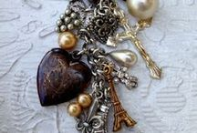 "Charms, dominos, steampunk .... / Petits pendentifs, bijoux, faits ""maison"""