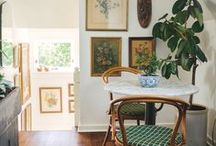 Art & Small Spaces / Well curated art can make a small space totally sing!
