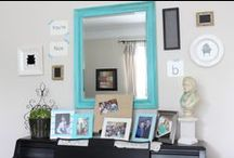 Gallery Walls / Gallery wall design ideas.  How to create a gorgeous gallery wall on a budget.