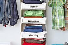 Cutting Out Clutter / There's no place like home! We're happy to offer you hundreds of unique kids' decorating ideas and organizing solutions for just about every room in the house!  Smart kids' space savers! / by One Step Ahead
