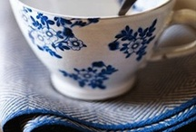 Blue and White Tea Party / What a combination, my favourite colour, tea and a party!