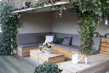 Outdoor spaces and garden / Great inspiration for the backyard patio, balcony and the garden. Plus some practical tips.