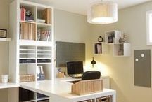 Craft room and office / So many lovely spaces!