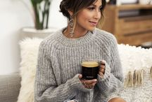 Fall fashion / Get ready for fall in soft sweaters, loose cardigans and boots.