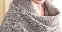 Knit // shawls, scarves, cowls / I want to wrap myself in all these gorgeous creations...