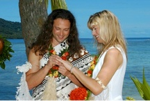 Fiji Weddings, Qamea Island Resort  / Weddings in Fiji are legal! A wedding on Qamea Resort and Spa will be above & beyond the ordinary. Choose a traditional Fijian wedding where Fijian Warriors escort the bride down the flower laden pathway along the beach and gardens to the glistening white sandy beach ceremony location right beneath the swaying coconut trees. Gazing out to the clearest, crystal turquoise lagoon in the South Pacific you'll smell the scent of exotic flowers, hear the angelic voices of the Qamea choir!  / by Unforgettable Honeymoons®